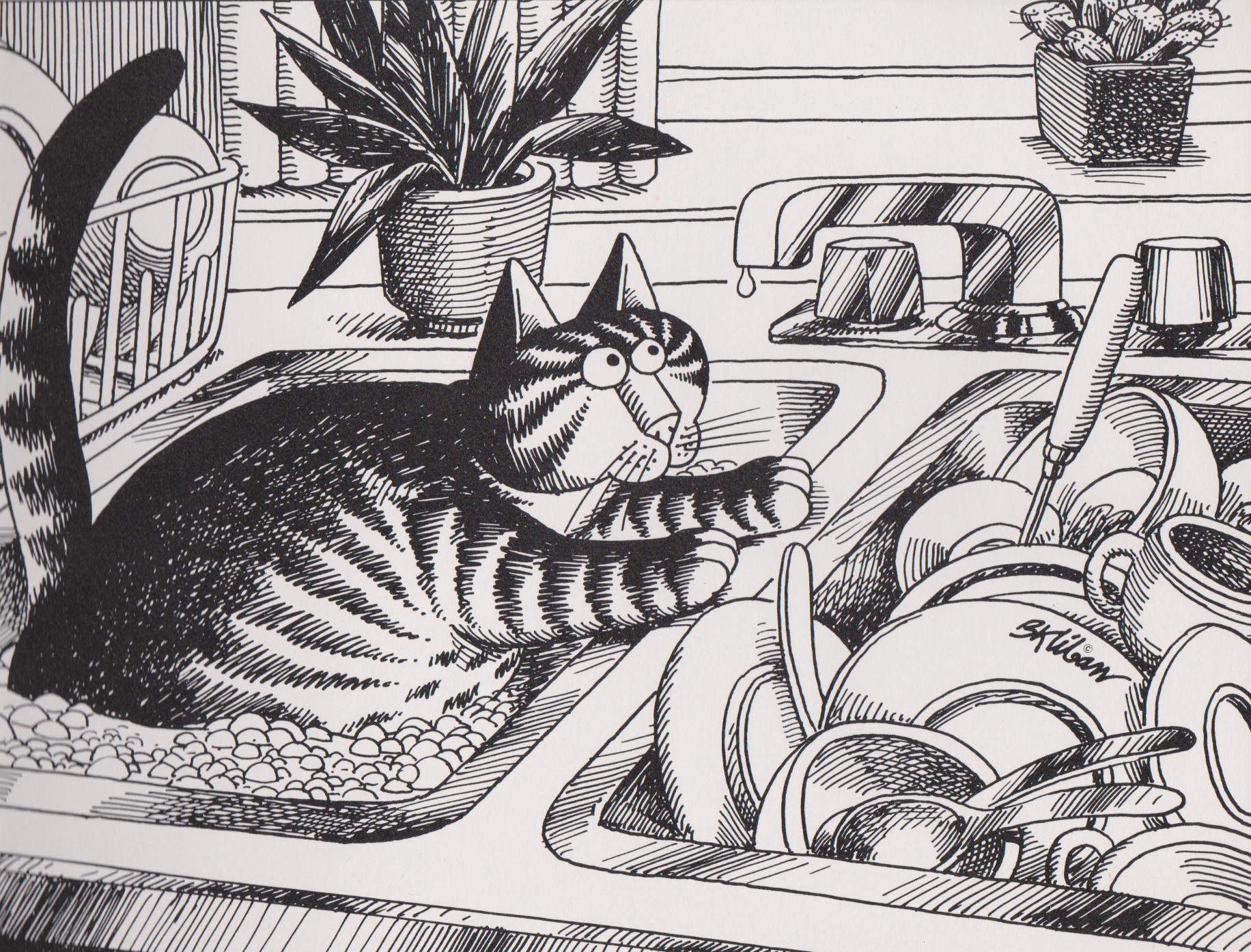 Kliban Curious Cat on Etsy