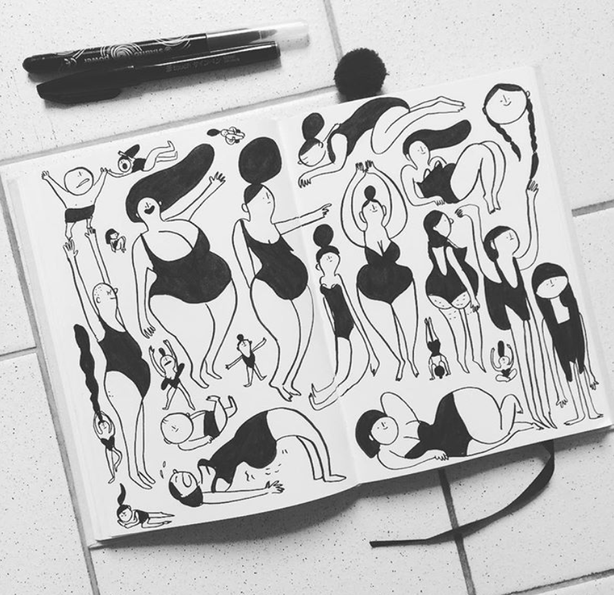 Doodling in Black and White by Cecile Dormeau